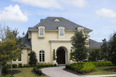French House. Executive home in country club located in florida Royalty Free Stock Photo