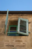 French House with Green Shutters Stock Images