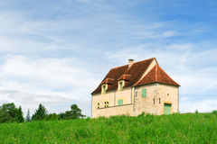 French house in landscape Stock Images