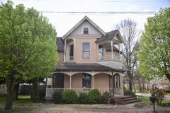 French House Victorian Manor Jackson, Tennessee. The French house listed on the national register of historic places is located in Jackson, Tennessee royalty free stock photography