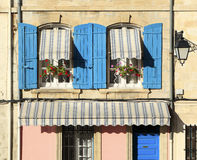 French house window box village Stock Photo