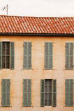 French house with windows and shutters Royalty Free Stock Photos