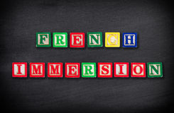 French immersion concept Royalty Free Stock Photography