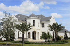 French inspired custom estate. In upscale community Stock Photography