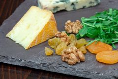 French & Irish Cheese Platter Royalty Free Stock Photos