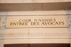 French justice admnistration, cour d'assise Editorial Royalty Free Stock Image