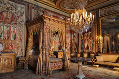 French king bedroom Stock Images