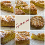 French king cake closeup Stock Images