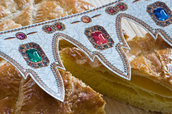 French king cake closeup Stock Photography