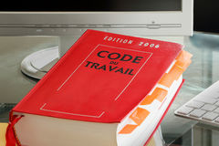 French labor code book royalty free stock photography