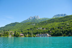 French lake Annecy Royalty Free Stock Image