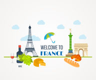 French Landmarks.. Eiffel tower, Notre Dame in Stock Images