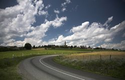French landscape. Land in spring near Lion Stock Photography
