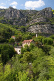 French Landscape. The imposing cliffs that surround Gorges du Loup, south of France Stock Photo