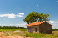French landscape with barn Royalty Free Stock Photography