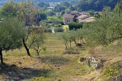 French landscape of the Cevennes Royalty Free Stock Photo