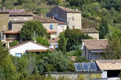 French landscape of the Cevennes Stock Images