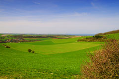 French landscape at the Cote Opale. Landscape at the seaside in the North of France Royalty Free Stock Photography