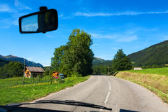 French landscape seen from car Stock Image
