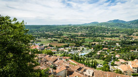 French landscape. A french landscape, in the Var region.rn Royalty Free Stock Photo