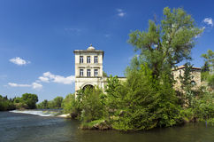 French landscapes, orb river near Beziers Royalty Free Stock Photo