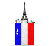 French language. The book with the French flag and bookmarks Stock Images
