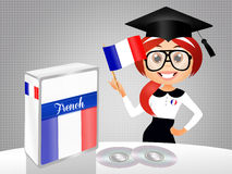 French language course. Illustration of French language course Royalty Free Stock Photography