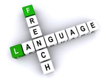 French language crosswords. An illustration of French language crosswords on a white background Royalty Free Stock Photography