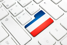 French language or France web concept. National flag enter butto Royalty Free Stock Photography