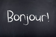 French Language Learning Bonjour Hello Royalty Free Stock Photography