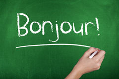 French Language Learning Bonjour Hello Royalty Free Stock Photo