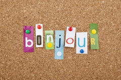 French Language Learning Bonjour Hello Stock Photography