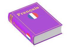 French language textbook. 3D rendering Royalty Free Stock Image