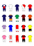 French League Clubs Kits 2013-14 Royalty Free Stock Image