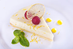 French lemon tart royalty free stock photos