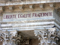 French for & x22;liberty, equality, fraternity& x22; royalty free stock photo
