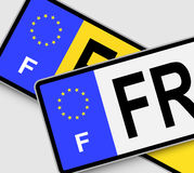 French Licence Plates Royalty Free Stock Images