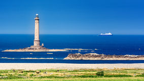 A French lighthouse. Huge lighthouse in the North of France stock photography