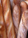 French loaves. A collection of French Baguette sticks stock images