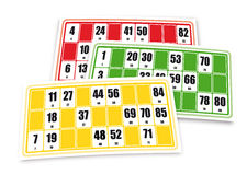 French loto game cardboards Royalty Free Stock Images