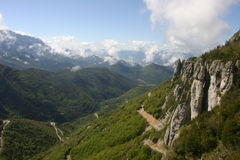 French lower alpine valley Royalty Free Stock Images