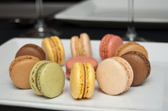 French macaron assortment Royalty Free Stock Images