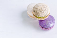 French Macaron Background Royalty Free Stock Photos