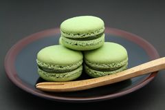 French Macaron Cookies with an Asian Twist Royalty Free Stock Photo