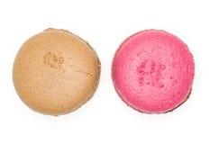 French macaron isolated on white royalty free stock image