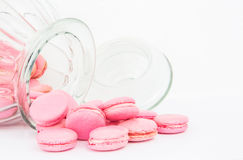 French Macaron In A Jar V Stock Photos