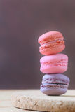 French Macaron, large variety of colors Stock Photo