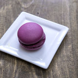 French  macaron on wooden table Royalty Free Stock Photos