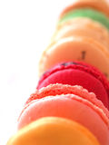 French macarons. A still-life of some tasty macarons Stock Photography