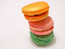 French macarons. A still-life of some tasty macarons stock photos